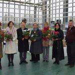 Foto no kreisās puses: Iveta Aigare, Evija Mitkus, Vilnis Borovskis, Māra Veitnere, Natālija Laminska, Antra Ivdra un Nacionālā botāniskā dārza direktors Andrejs Svilāns.