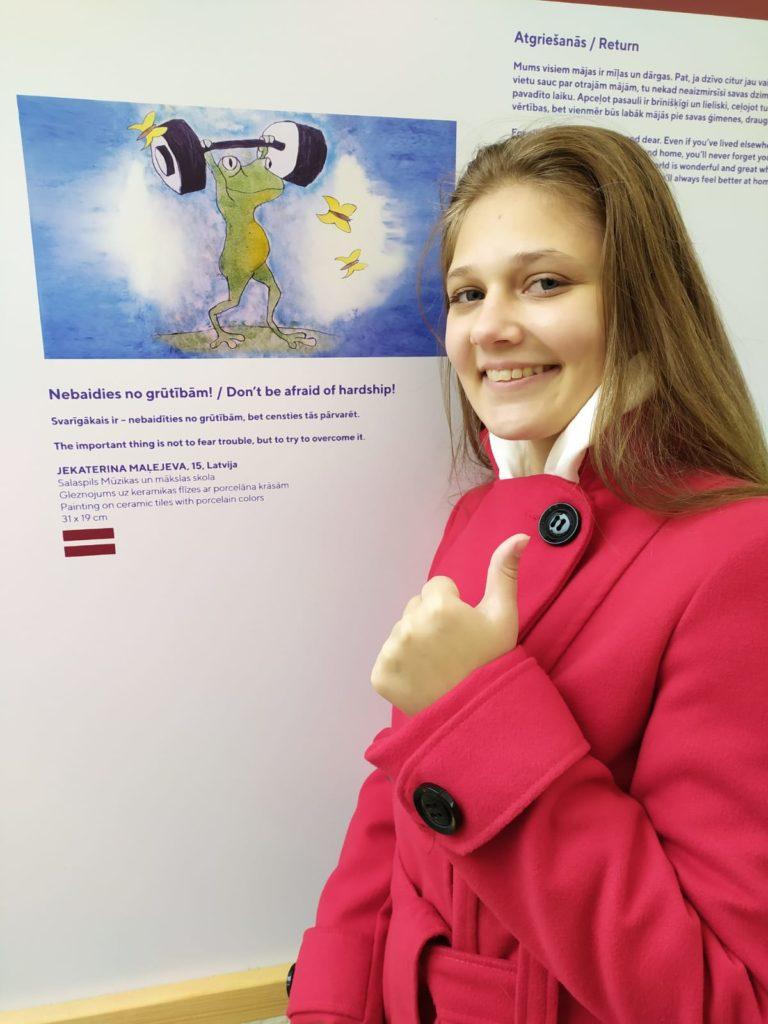 """Jekaterina Maļejeva, 10. starptautiskā bērnu un jauniešu mākslas izstāde """"Vērtību sakta"""""""
