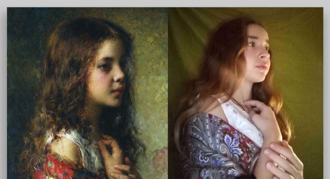 """Aleksejs Harlamovs """"Meitenes portrets"""" / Interpretācija"""