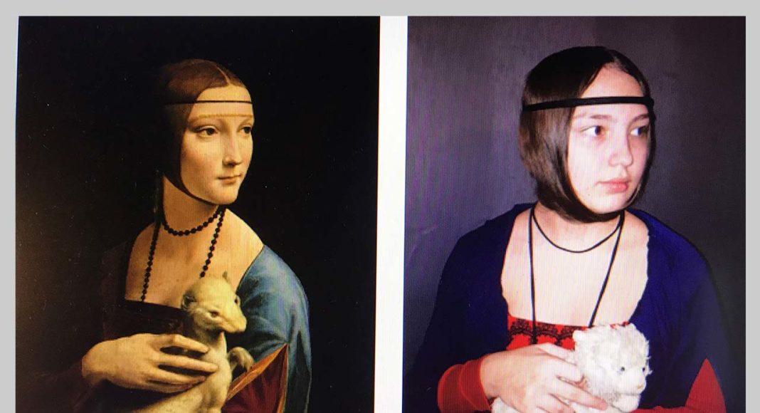 """Leonardo Davinci """"Dāma ar sermulinu"""" interpretacija"""